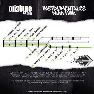 Trasera: Oliztyle - Instrumentales para vivir