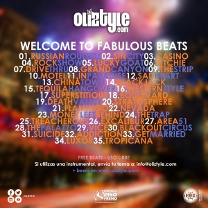 Trasera: Oliztyle - Welcome to fabulous beats (Instrumentales)