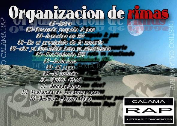 Organizacion de rimas - Destino Calama Rapa » Álbum Hip Hop Groups