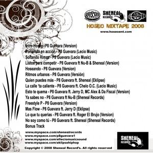 Trasera: P8 Guevara - Hoseo Mixtape Vo. 1