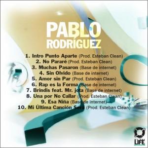 Trasera: Pablo Rodriguez - Punto aparte