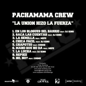 Trasera: Pachamama Crew - La unión hizo la fuerza
