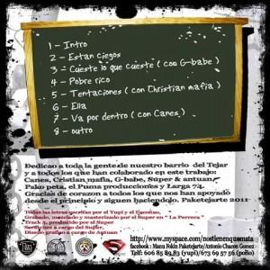 Trasera: Paketejarte - The master sound