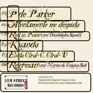 Trasera: Parker - P de Parker