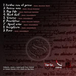 Trasera: Peter Rock - Scriptoria