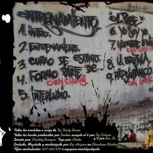Trasera: Pibe y Dj Dirty Seven - Entrenamiento