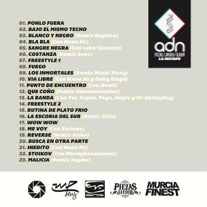 Trasera: Piezas, Jayder y Dj Hem - ADN La Mixtape