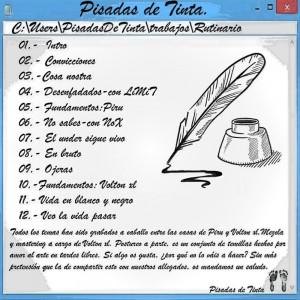 Trasera: Pisadas de tinta - Rutinario