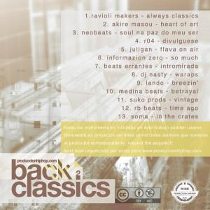 Trasera: Produccion HipHop - back2classics