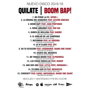 Trasera: Quilate - Boom bap!