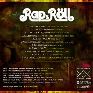 Trasera: Rap N Roll - Sex, drums & Rap N Roll
