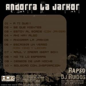 Trasera: Rapso y ruidos - Andorra La Jarkor