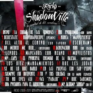 Trasera: Ricko - Shadowville - La ciudad de las sombras