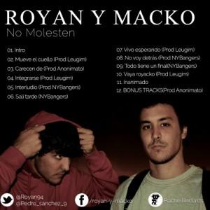 Trasera: Royan y Macko - No molesten