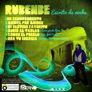 Trasera: Rubenbe - Escrito de noche