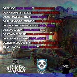 Trasera: Rufianes beats y Akrez - Bélico (Instrumentales)