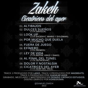 Trasera: Samuel Zakeh - Cicatrices del ayer