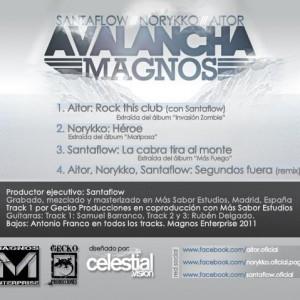 Trasera: Santaflow, Norykko y Aitor - Avalancha magnos