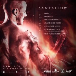 Trasera: Santaflow - Red Vol. 1: El retorno del fénix