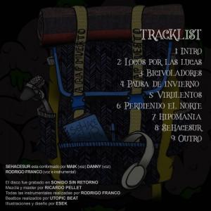 Trasera: Sehacesur - A Rap muerto, Rap puesto