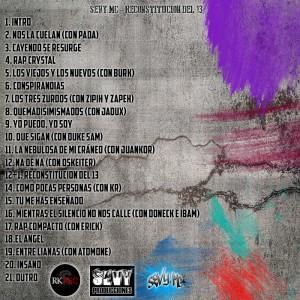 Trasera: Sevy MC - Reconstitución del 13