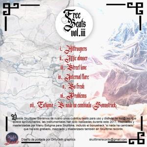 Trasera: Skulltime beats - Free beats Vol. 3 (Instrumentales)
