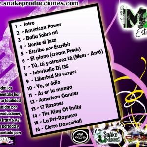 Trasera: Snake producciones - Metro cuadrado estudios Vol. 5 (Instrumentales)