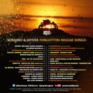 Trasera: Soriano y Jayder - Forgotten reggae songs