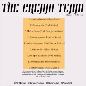 Trasera: The cream team - Suena que alimenta
