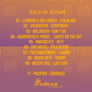 Trasera: The producers league - Back to school (Instrumentales)