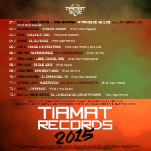 Trasera: Tiamat Records - Recopilatorio 2015
