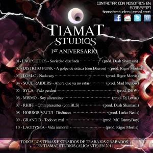 Trasera: Tiamat studios - Recopilatorio 2011
