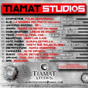 Trasera: Tiamat studios - Recopilatorio 2012