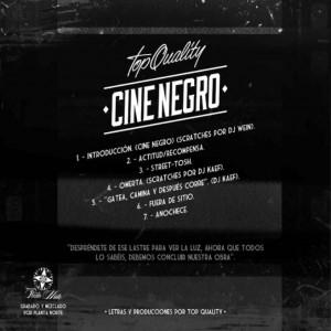 Trasera: Top quality - Cine negro