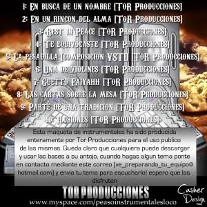 Trasera: Tor Producciones - Beats de uso libre (Instrumentales)