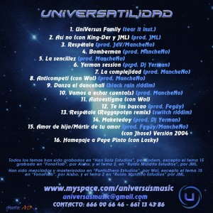 Trasera: Universus - Universatilidad