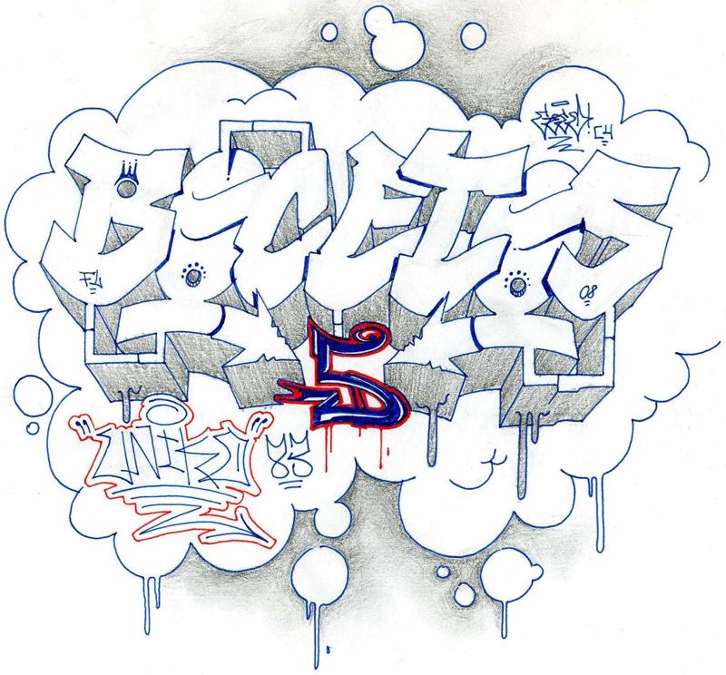 Bocetos De Graffitis Letras | New Calendar Template Site