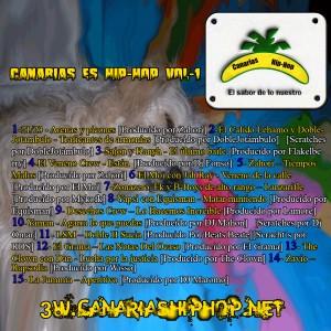 Trasera: VVAA - Canarias es Hip-Hop
