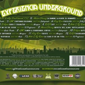 Trasera: VVAA - Experiencia underground Vol. 1