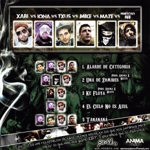 Trasera: VVAA - Friday nights en anima studios Vol. 1