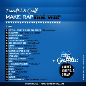 Trasera: VVAA - Make rap not war