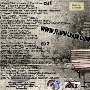 Trasera: VVAA - Rap in jam underground Vol. 1