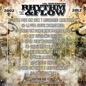 Trasera: VVAA - Rhythm and Flow 2002-2012