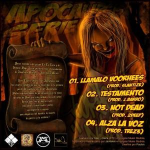 Trasera: Voorhees Naif - Apocalipsis series Vol. 1