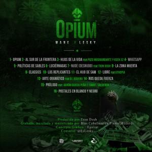Trasera: Wane y Lesky - Opium