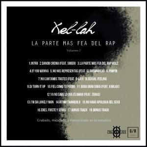 Trasera: Xel-lah - La parte más fea del rap Vol. 2