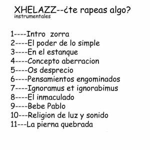 Trasera: Xhelazz - ¿Te rapeas algo? 1 (Instrumentales)