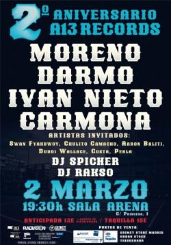 2º Aniversario A13 Records en Madrid