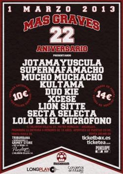 22 aniversario de Mas Graves en Madrid