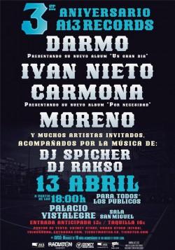 3er Aniversario A13 Records en Madrid